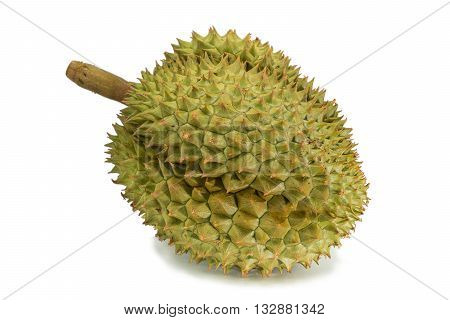King of fruits durian on white background