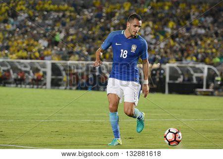 Brazilian Soccer Renato Augusto During Copa America Centenario