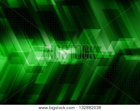 Abstract digital technology background with green stripes, Hi-tech concept vector illustration