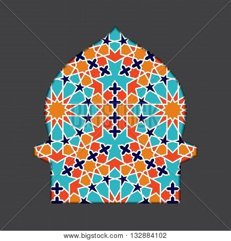 Islamic ramadan greeting card. Islamic Ramadan decoration. Islamic mosque vector illustration. Ramadan template