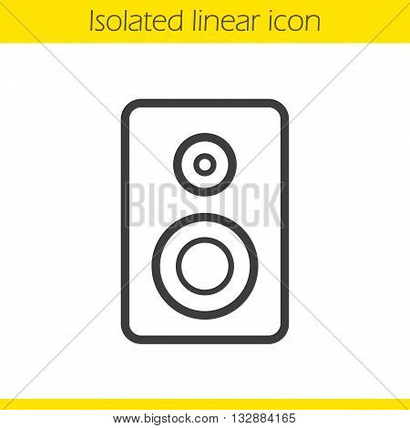 Speaker linear icon. Electronic studio equipment thin line illustration. Computer speaker contour symbol. Vector isolated outline drawing