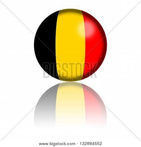 Belgium Flag Sphere 3D Rendering