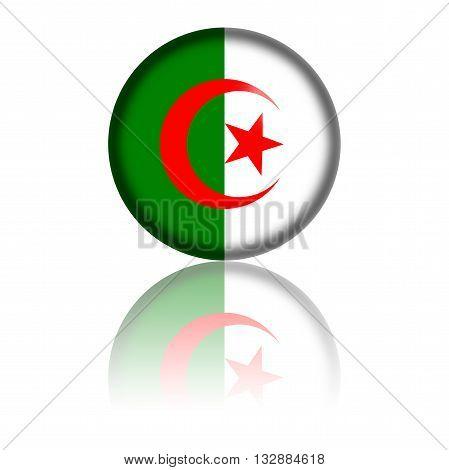 Algeria Flag Sphere 3D Rendering