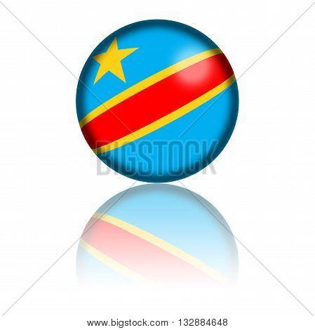 Democratic Republic Of The Congo Flag Sphere 3D Rendering