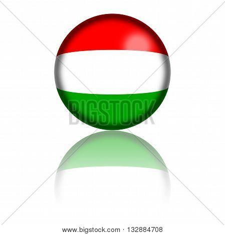 Hungary Flag Sphere 3D Rendering