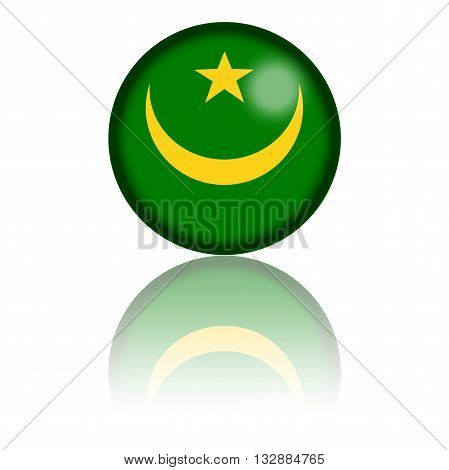 Mauritania Flag Sphere 3D Rendering