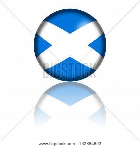 Scotland Flag Sphere 3D Rendering