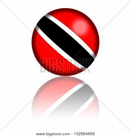 Trinidad And Tobago Flag Sphere 3D Rendering
