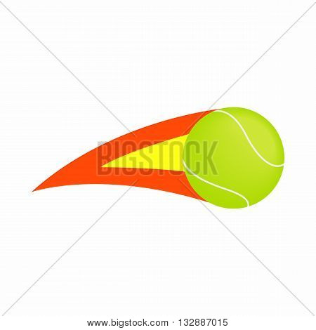 Flaming tennis ball icon in isometric 3d style on a white background