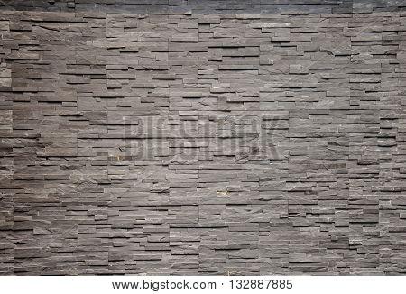 Decorative modern gray slate stone tile wall