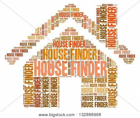 House Finder Shows Properties Finding And Searching