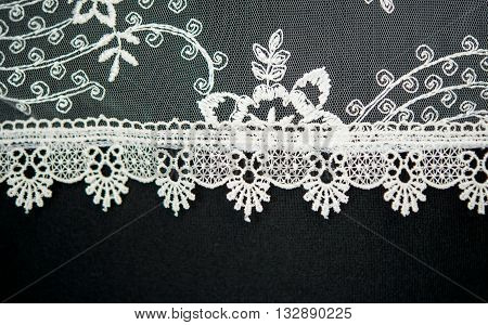 texture of a wedding dress with flowers