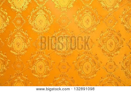 Old gold wallpaper : Traditional Thai style