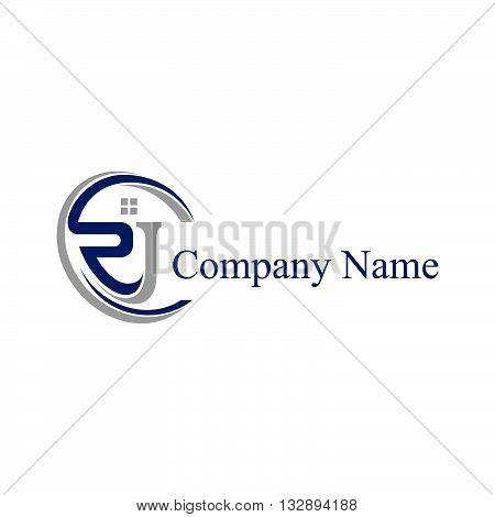 RJ letter logo for business company or/and building company