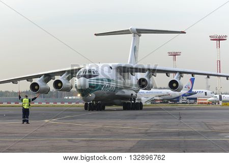 Cargo Airplane Il-76Td Alrosa Airlines