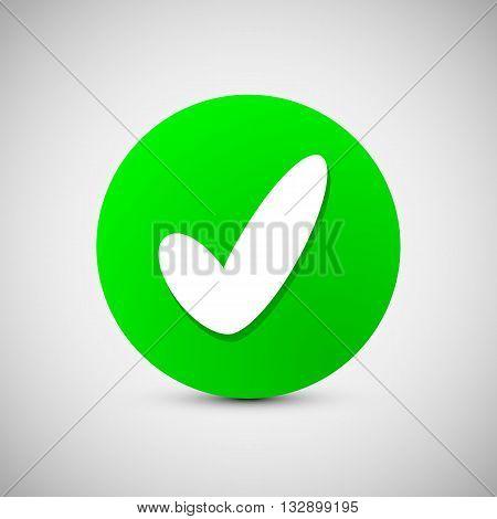 Check mark sign icon. Ok, Accept, Valid icon button. Check confirm icon. Vector illustration