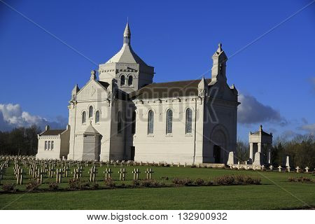 the monument Canadian our lady of Lorette in France