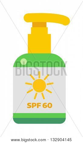 Sunscreen cream vector illustration.