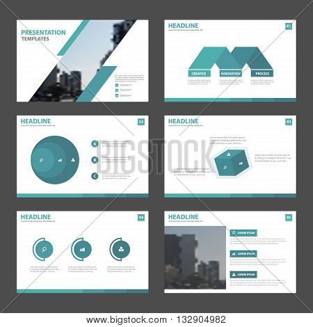 Blue Abstract presentation templates Infographic elements template flat design set for brochure flyer leaflet marketing advertising banner template