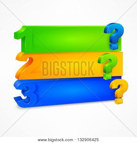 Question Mark Template Color
