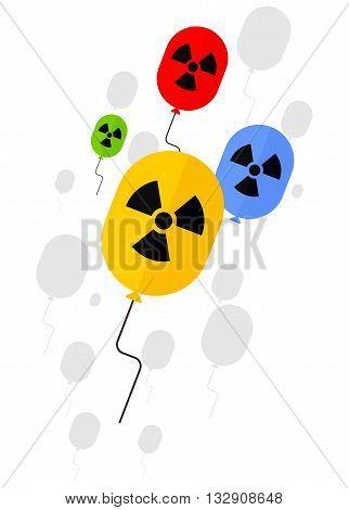 Sign Of Radioactive Substances On Balloon