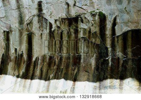 Closeup of a Slot Canyon Wall. The Narrows in Zion National Park, Utah ,US