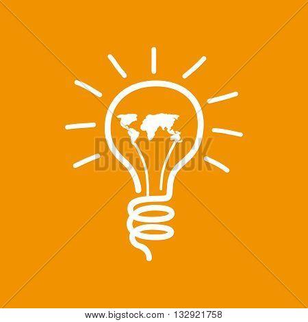 bulb idea design world bulb idea concept. vector illustration.