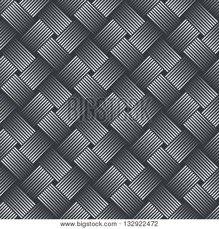 Seamless pattern. Simple stylish texture with thin lines. Regularly repeating geometrical linear grid with intersecting thin lines. Vector element of graphical design