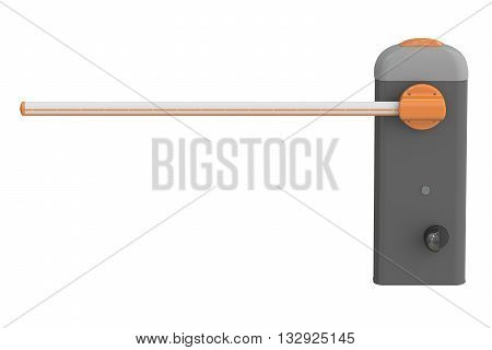 automatic barrier 3D rendering isolated on white background
