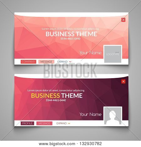 Web business site design, Header Layout Template. Creative corporate advertisement cover. Web design layout. Banner header web design