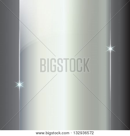 Vector abstract colored shining silver metallic background plate