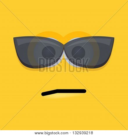 vector modern yellow face background. Eps10 illustration