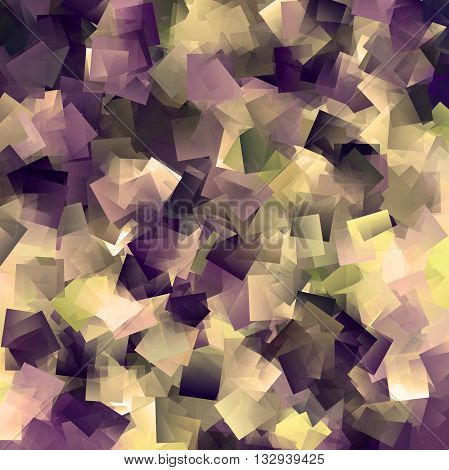 Abstract coloring brushed aluminium gradients background with visual cubism effects