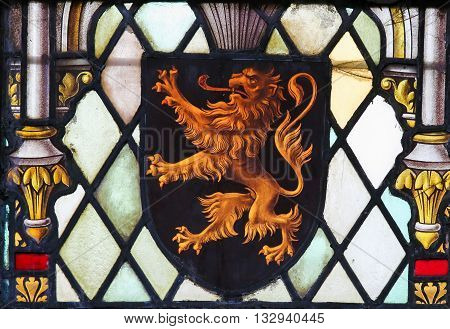 Stained Glass - Coat Of Arms Of Brabant