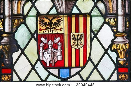 Stained Glass - Coat Of Arms Of Antwerp Province