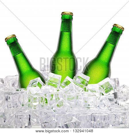 Bottles Of Beer In Ice