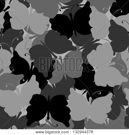 Butterfly camouflage seamless vector pattern. Nature seamless background. Stone camo. Vector illustration. Can be used for cards, invitations, fabrics, wallpapers, wrapping design, scrap-booking