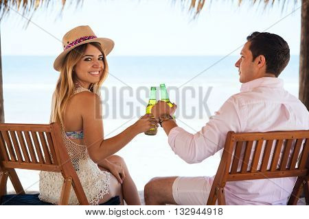 Happy Girl In A Date With Her Boyfriend