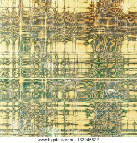 Old grunge vintage background or shabby texture with different color patterns: yellow (beige); brown; green; gray