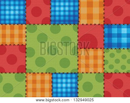 Colorful background of junina party with textile texture. brazil June Festival.