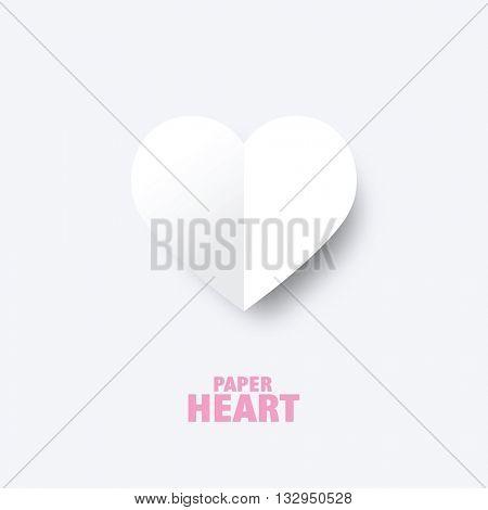 Paper heart - graphic design element. Heart image.