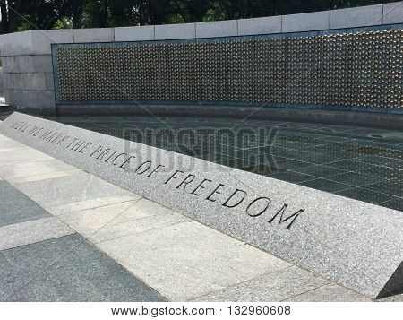 A World War 2 Memorial that reads