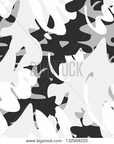 seamless camouflage pattern in gray shades of color