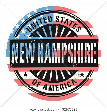 Grunge rubber stamp with the text United States of America, New Hampshire, vector illustration