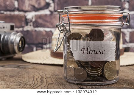 House Savings Jar