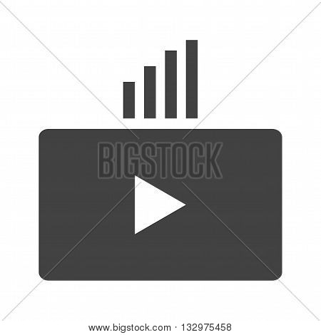 Video, marketing, tablet icon vector image. Can also be used for digital web. Suitable for use on web apps, mobile apps and print media.