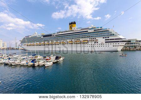 Savona Italy - September 27 2015:cruise ship