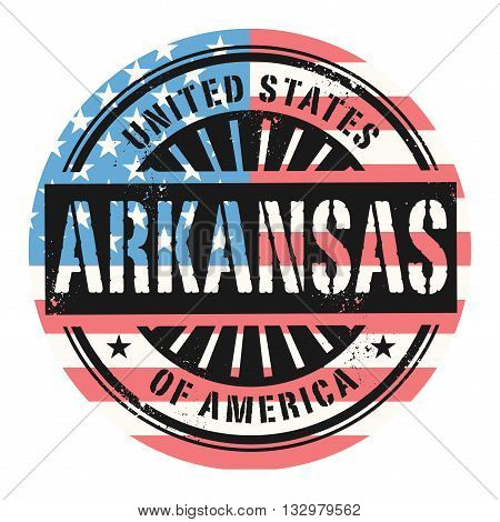 Grunge rubber stamp with the text United States of America, Arkansas, vector illustration