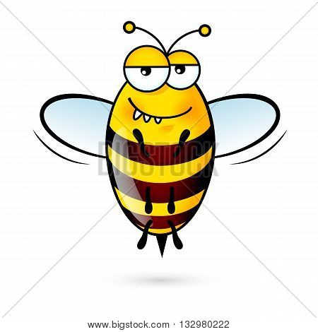 Illustration of a Friendly Cute Bee with Expression