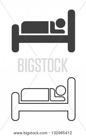 hotel or guesthouse sign icon - sleeping place